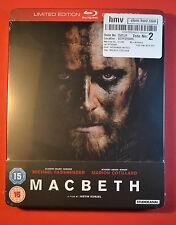 Macbeth Steelbook Bluray UK Edition Region B New and Sealed