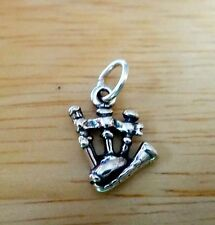Fine Charms Sterling Silver 22x16mm Bagpipes Musical Instrument