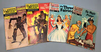 VTG Lot 4 Classics Illustrated/Junior Comic Buccaneer 3 Fairies Frankenstein AA