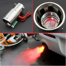 Universal Car Tail Exhaust Pipe Red LED Light Spitfire Flaming Muffler Tip 63mm