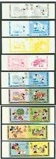 Lesotho 1982 Disney Christmas progressive proof pairs