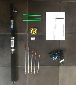 Telescopic Travel/starter kit ,8 ft Rod & Reel Complete Set for Coarse Fishing