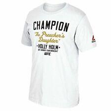 Holly Holm UFC Reebok White Bantamweight Champion Print T-shirt for Men XL