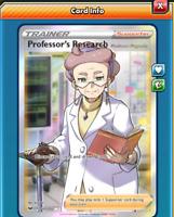 DIGITAL Professor's Research Full Art Pokemon tcg ONLINE