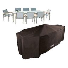 Bosmere Storm Black 8 Seater Rectangular Garden Patio Set Waterproof Cover Rain