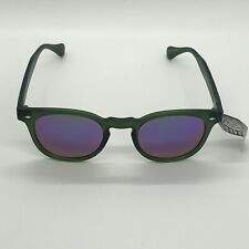 Pugs Sunglasses Translucent Green Frame with Mirror Lens Style # C4