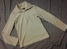 MODA International Victoria's Secret fleece pullover zip up tan euc sm small