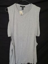 New Women's Forever 21 Stretch Knit Gray Tank Top Cropped Shirt Size Large SEXY!