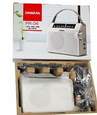 NEW Sangean PR-D6 FM/AM Compact Analogue Portable Radio Receiver w/110V Adapter