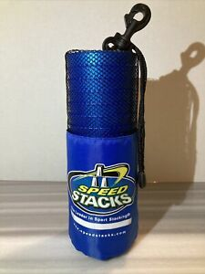 Speed Stacks Cups Official Stacking Blue 12pc Lot and Carry Bag with Clip