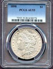 1898 $1 Morgan Silver Dollar PCGS AU 53 (8379)
