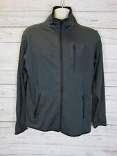 WKD Men's Dark Cray Full Zip Athletic Jacket Size: S