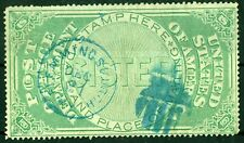 US-Post Office Registry Seal, Yellow Green, VF,(OXF1) USED