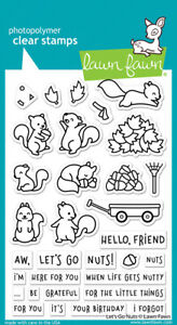 Lawn Fawn Clear Acrylic Stamps Let's Go Nuts lf2407