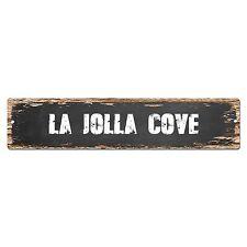 SP0250 LA JOLLA COVE Street Chic Sign Bar Store Shop Cafe Home Wall Decor