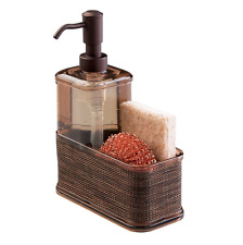 Liquid Dish Soap Dispenser Kitchen Sink Caddy Organizer Sponge Pump Bottle