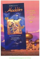 ALADDIN MOVIE POSTER Original 27x40 SOUNDTRACK PROMO DISNEY ANIMATION