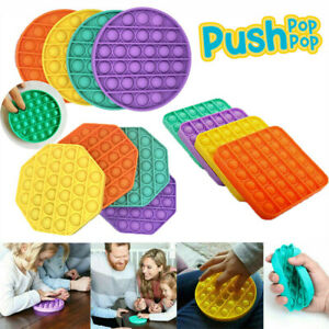 Pop Its Fidget Pop Square Round Toy Push Pops Bubble Stress Relief Kids Tiktok