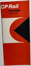 CANADIAN PACIFIC RAILWAY Time Table April 30, 1972