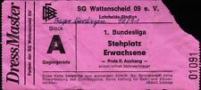 Ticket BL 90/91 SG Wattenscheid 09 - Bayer Uerdingen