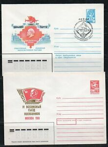 Russia USSR very nice lot of 8 Lenin covers with spec. cancels (2)