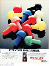 PUBLICITE ADVERTISING 036  1980  Micro Meccano jeux jouet Master Mind