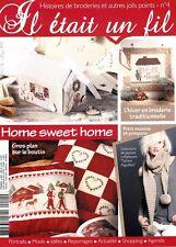 Il était un fil N°4 Broderie couture Point de croix Home sweet home hiver 3 D