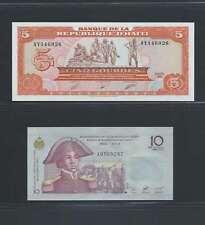 Haiti  Lot de 2 billets différents  en état NEUF