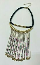 "Avon~MARK~""See Me Roar Necklace""~Antiqued Brass & Beads 16-1/2"" L~NIB"