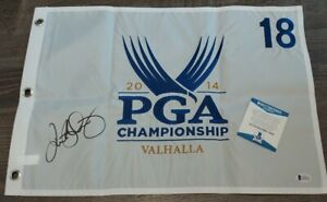 Rory McIlroy Signed Autographed 2014 PGA Championship VALHALLA Pin Flag BECKETT