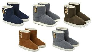 Dunlop Ankle Boots with Rubber Sole, Memory Foam for Indoor Outdoor Men Women