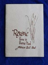 REVERIE POEMS IN PENSIVE MOOD FRANCES BELL POND BOOK 1974 SIMCOE CANADA SIGNED
