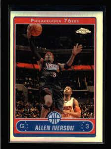 ALLEN IVERSON 2006/07 TOPPS CHROME #108 REFRACTOR (POPULAR PARALLEL SET) N7332