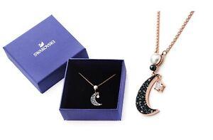 New Gift Box SWAROVSKI 5489534 Rose Gold Crystal Symbolic Moon Pendant Necklace