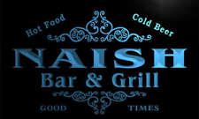 u31963-b NAISH Family Name Bar & Grill Home Brew Beer Neon Sign