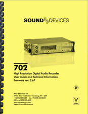 Sound Devices 702 User'S Manual