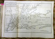 Original 1776 REVOLUTIONARY WAR MAP & text describing THE BATTLE OF LONG ISLAND