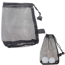 Nylon Mesh Nets Bag Pouch Golf Tennis 15 Balls Carrying Holder Storage Durable