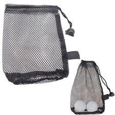 Nylon Mesh Nets Bag Pouch Golf Tennis 15 Balls Carrying Holder Storage Durable