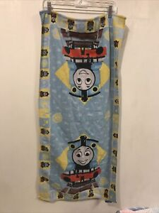Vtg Thomas and Friends Towel Blue Yellow Multicolor 40 x 19 3/4 Inches Used