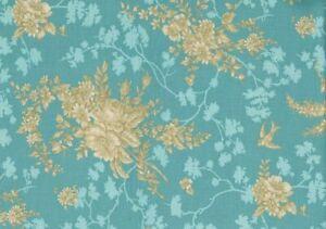 Notting Hill Golden Bouquet 1622 Cotton Fabric (112cm per metre)
