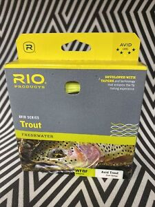 RIO AVID TROUT NEW WF-8-F #8 WEIGHT FORWARD FLOATING FLY LINE YELLOW