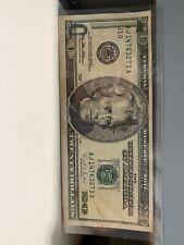 US $ 20 dollar bill 1996 series green ink stamped error Rare!