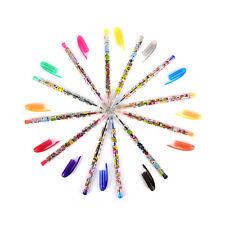 10x Assorted Color Shine Glitter Sparkled Gel Pens School Stationary B
