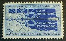 U.S. Scott# 1092  3c Oklahoma Statehood  MNH OG F-VF