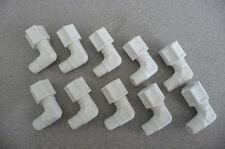 """One Lot Jaco White Polypropylene Elbow Tube Fitting, 3/8"""" OD Tube x 1/4"""" mnpt"""