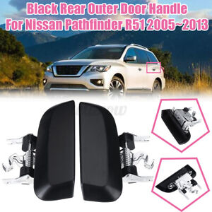 Pair Rear Outer Exterior Door Handle Fit For Nissan Pathfinder R51 2005-2013 New