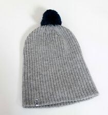 RVLT Revolution Top Hat Long Beanie Strickmütze Bommel Slouch Winter grau grey