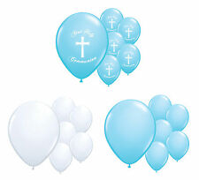 30 X 1ST HOLY COMMUNION BLUE & WHITE HELIUM QUALITY BALLOONS PARTY DECORATIONS