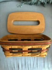 Longaberger 1998 Shades of Autumn Baker's Bounty Basket w/ tissue box lid Signed